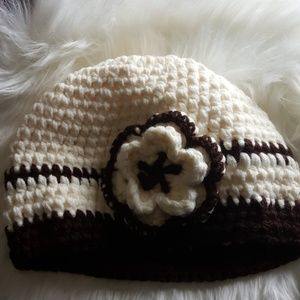 Brown and Cream Crochet Hat